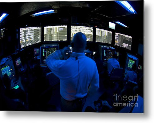 Adults Only Metal Print featuring the photograph Air Traffic Controller Watches by Stocktrek Images