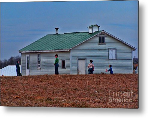 Amish Metal Print featuring the photograph Amish School by Tommy Anderson