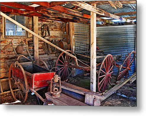 Photograph Metal Print featuring the photograph Antique Shed by Melany Sarafis
