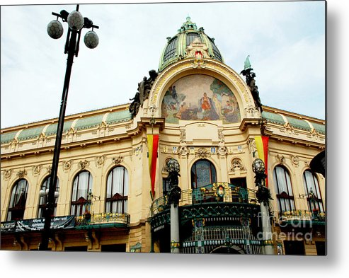 Building Metal Print featuring the photograph Art On A Building by Pravine Chester