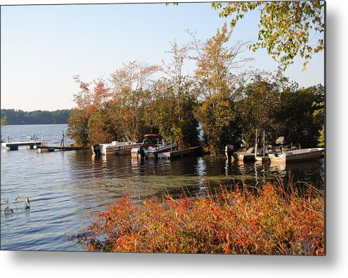 Metal Print featuring the photograph Autumn On The Pond by Jennifer Powers