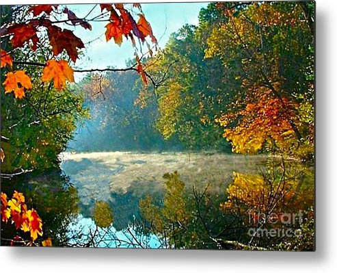 White River Scene Metal Print featuring the photograph Autumn On The White River I by Julie Dant