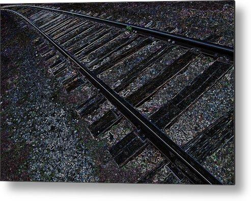 Railroad Metal Print featuring the mixed media Back Trackin by Travis Crockart