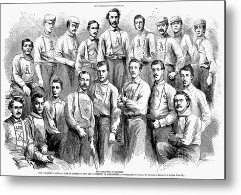 1866 Metal Print featuring the photograph Baseball Teams, 1866 by Granger