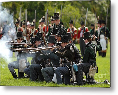 Siege Metal Print featuring the photograph Battle 22 by JT Lewis