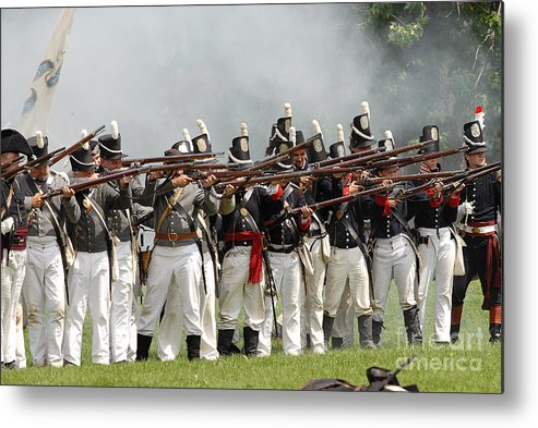Siege Metal Print featuring the photograph Battle 37 by JT Lewis