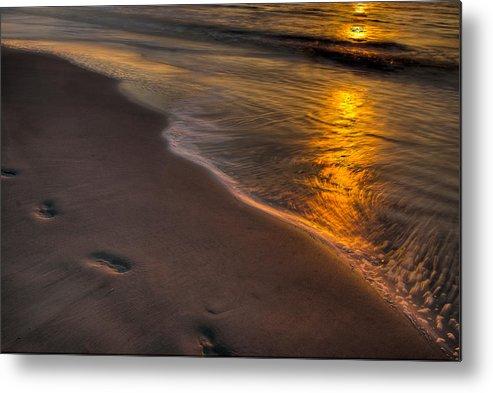 Sunrise Metal Print featuring the photograph Beach Walk - Part 2 by Dennis Dame
