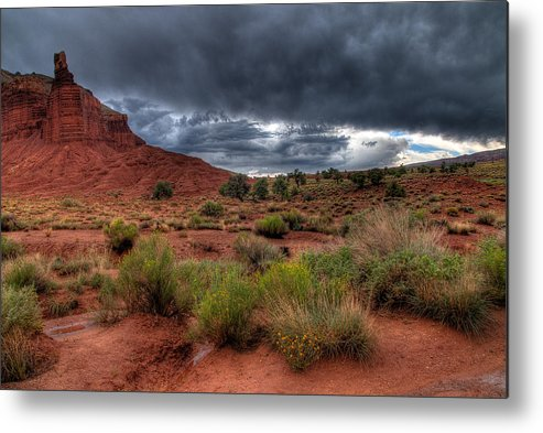 Utah Metal Print featuring the photograph Before The Storm by David M Lynnes