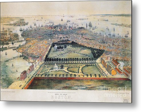 1850 Metal Print featuring the photograph Boston, 1850 by Granger
