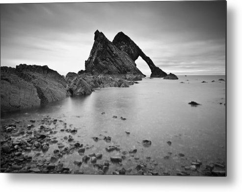 Horizontal Metal Print featuring the photograph bow Fiddle Rock by Photographybyurbaneyes.com