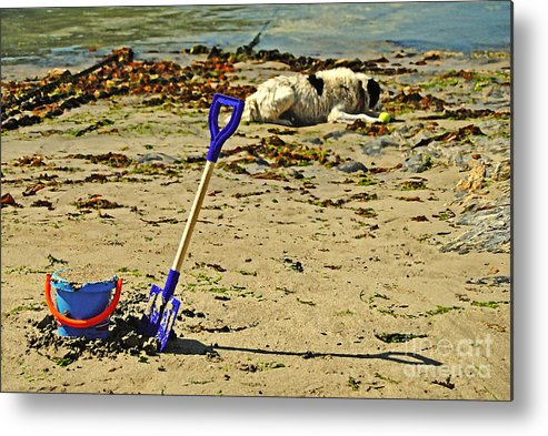 Bucket Metal Print featuring the photograph Bucket And Spade by Rob Hawkins
