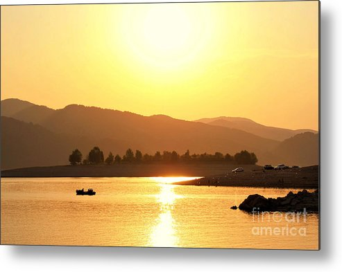 Background Metal Print featuring the photograph Bulgarian Sunset by Hristo Hristov
