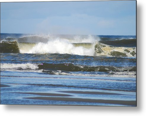 Waves Metal Print featuring the photograph Crashing Waves by Michael Merry