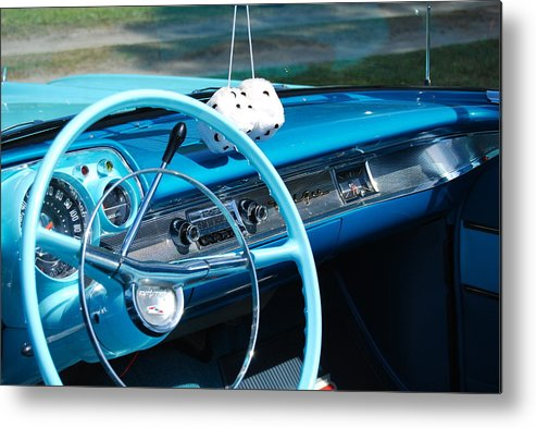 Crusin Blues Metal Print featuring the photograph Cruisin' Blues by Kathy Gibbons
