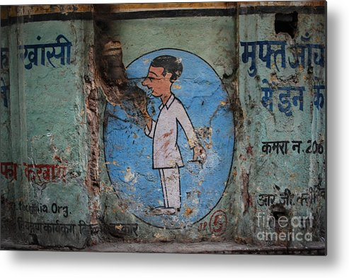 Delhi Metal Print featuring the photograph Delhi Smoker by Jen Bodendorfer