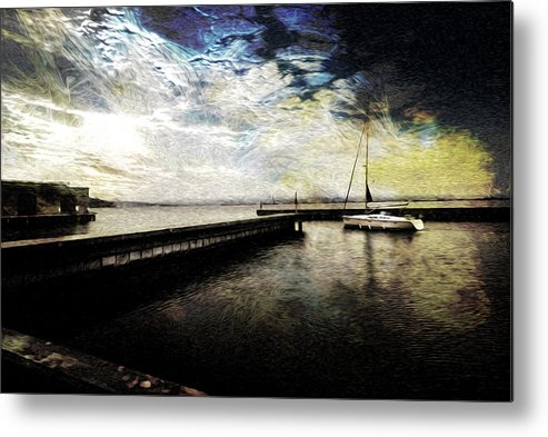 Sailing Metal Print featuring the photograph Destination - Pacific by Jay Hooker