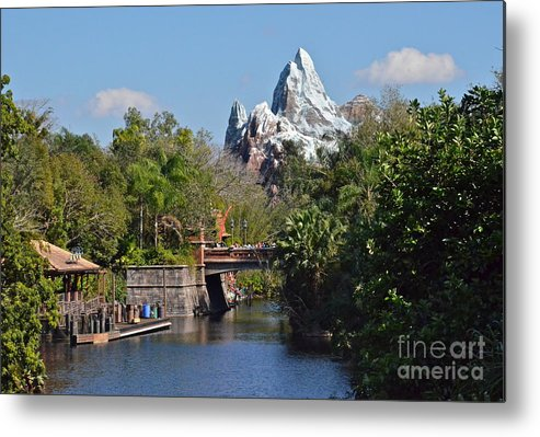 Epcot Metal Print featuring the photograph Everest by Carol Bradley