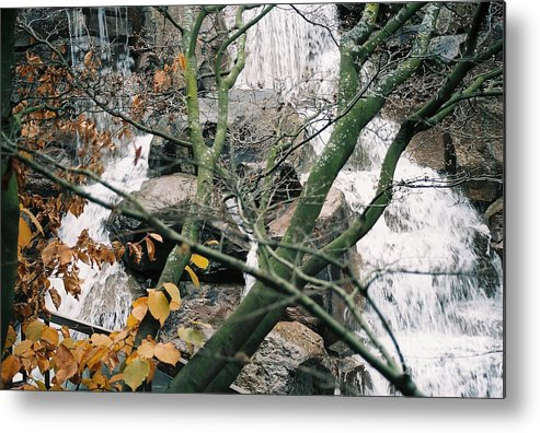 Water Metal Print featuring the photograph Falling Water by Bruce Borthwick