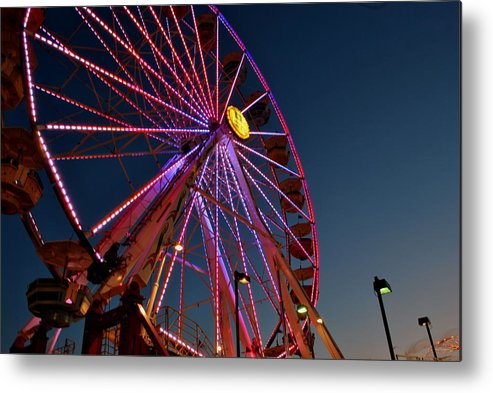 Photography Metal Print featuring the photograph Ferris Wheel 1 by Jim ODonnell