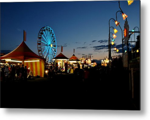 Ferris Wheel Metal Print featuring the photograph Ferris Wheel 2 by Jim ODonnell