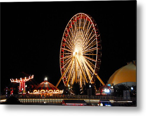 Chicago Metal Print featuring the photograph Fun At The Navy Pier by Lynn Bauer