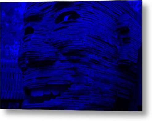 Architecture Metal Print featuring the photograph Gentle Giant In Blue by Rob Hans