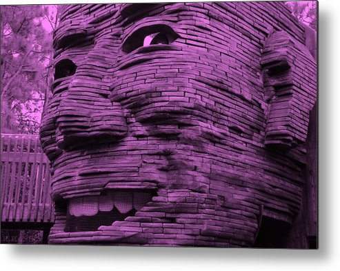 Architecture Metal Print featuring the photograph Gentle Giant In Light Pink by Rob Hans
