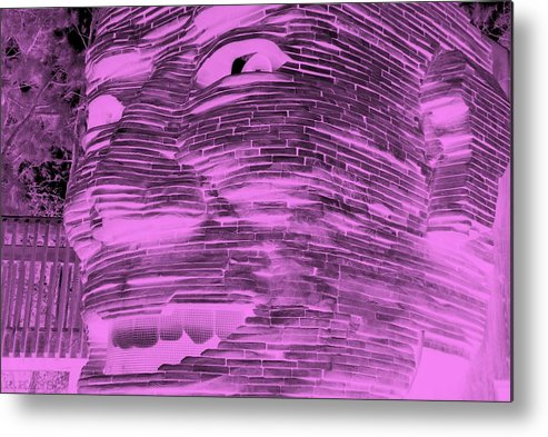 Architecture Metal Print featuring the photograph Gentle Giant In Negative Pink by Rob Hans
