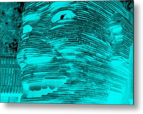 Architecture Metal Print featuring the photograph Gentle Giant In Negative Turquois by Rob Hans