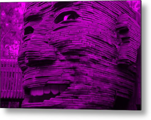 Architecture Metal Print featuring the photograph Gentle Giant In Purple by Rob Hans