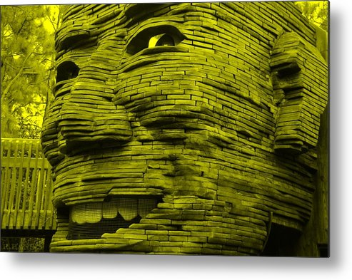Architecture Metal Print featuring the photograph Gentle Giant In Yellow by Rob Hans
