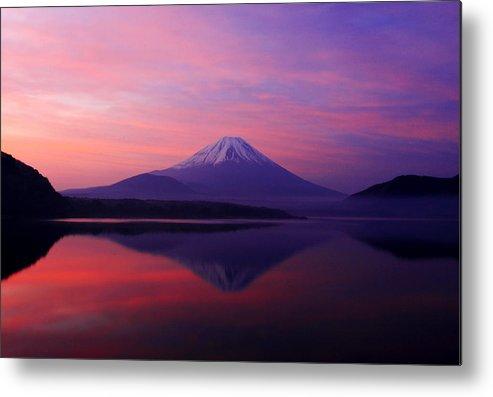 Mountain Metal Print featuring the photograph Good Morning Mt Fuji by Kean Poh Chua
