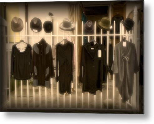 Hats Metal Print featuring the photograph Haberdashery by Ercole Gaudioso