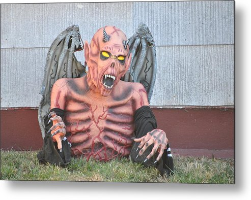 Halloween Metal Print featuring the photograph Halloween In Alameda by Nimmi Solomon