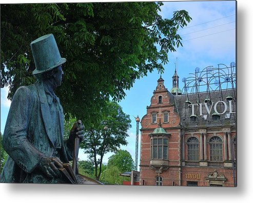 Denmark Metal Print featuring the photograph Hans Christian Anderson And Tivoli by Steven Richman
