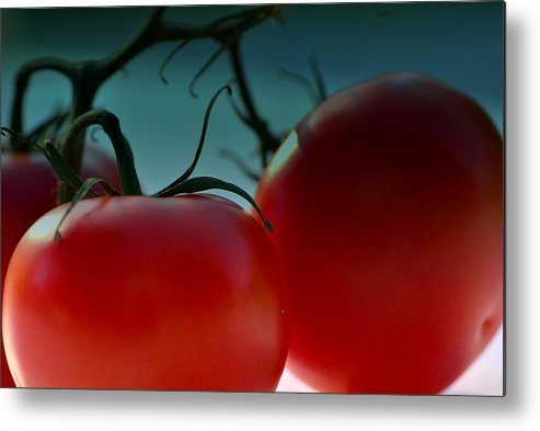 Vine Ripe Tomato's Metal Print featuring the photograph Home Grown.... by Tanya Tanski