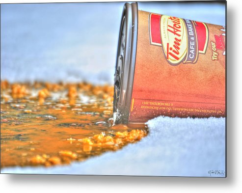 Metal Print featuring the photograph Iced Cap by Michael Frank Jr