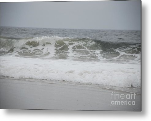 Seascape Metal Print featuring the photograph Into The Grey by Diane Fiore