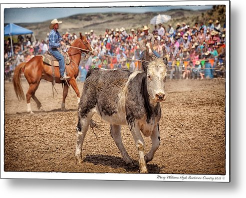 Jordan Valley Metal Print featuring the photograph Jordan Valley 2012 Arena Action by Mary Williams Hyde