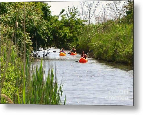 Group Metal Print featuring the photograph Kayakers by Artie Wallace