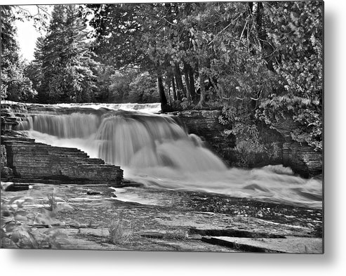 Landscape Metal Print featuring the photograph Lower Tahquamenon Falls 6140b by Michael Peychich