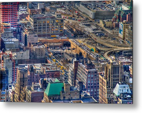 Nyc Metal Print featuring the photograph Manhattan Lincoln Tunnel Entrance by Mark Dodd