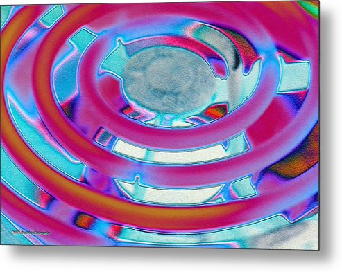 Neon Metal Print featuring the photograph Neon Burner by Michael Merry