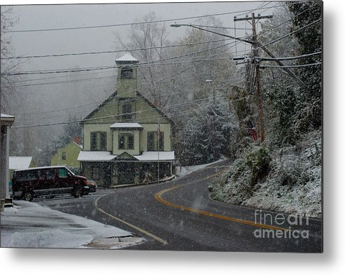 Snow Metal Print featuring the photograph New Preston Snow by Andrea Simon