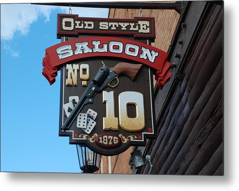 Saloon Metal Print featuring the photograph Number 10 Saloon by Dany Lison