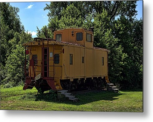 Caboose Metal Print featuring the photograph Old Time Caboose by Tim McCullough
