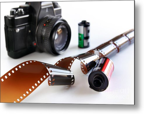 35mm Metal Print featuring the photograph Photography Gear by Carlos Caetano