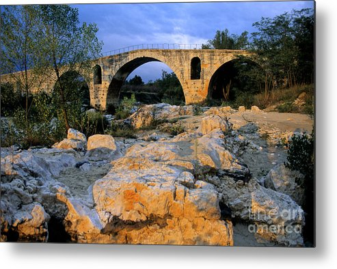 France Metal Print featuring the photograph Pont Julien. Luberon. Provence. France. Europe by Bernard Jaubert