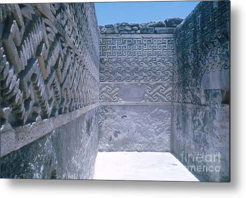 People Metal Print featuring the photograph Prehistoric Ruins Of Mitla by Photo Researchers, Inc.