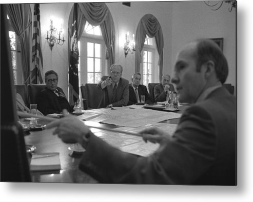 History Metal Print featuring the photograph President Gerald Ford And National by Everett
